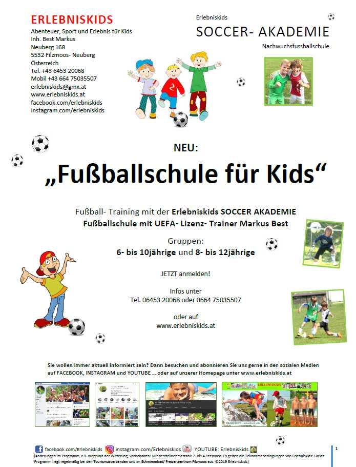 Erlebniskids Soccer Akademie Nachwuchsfussballschule